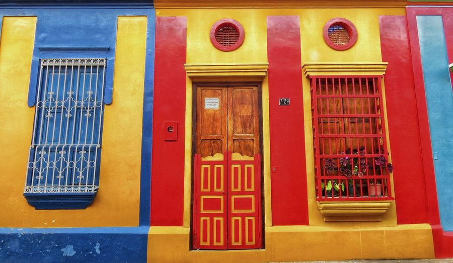 Colorful Door Red Built Structure Architecture Outdoors No People Day Multi Colored Building Exterior