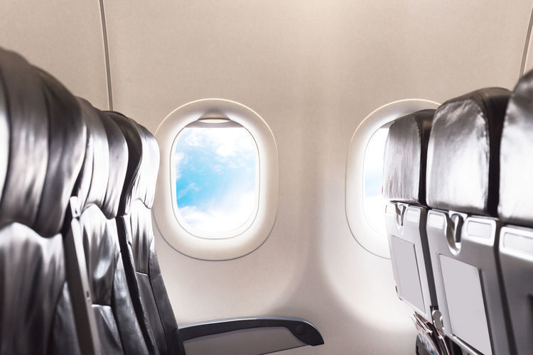 Seats in airplane