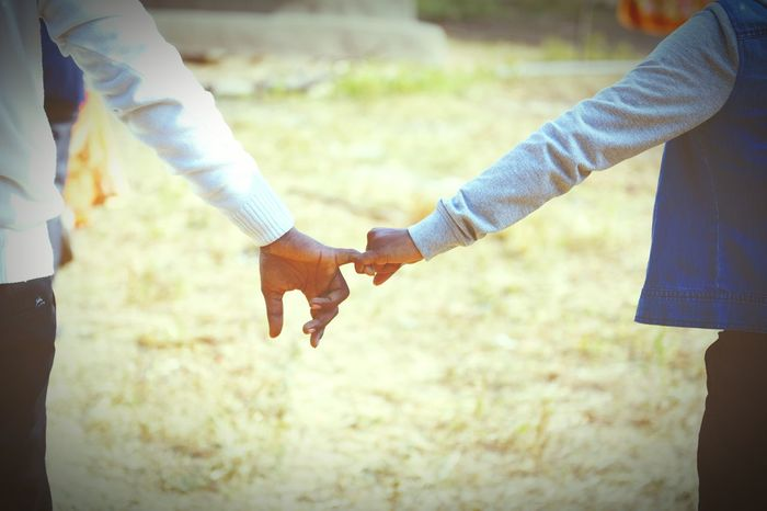 pinky promise Two People Togetherness Love Adults Only Holding Hands Romance Connection Couple - Relationship Young Adult Day Affectionate People
