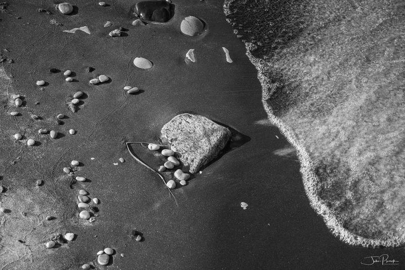 Beach Blackandwhite Coast Lake Nature No People Outdoors Sand