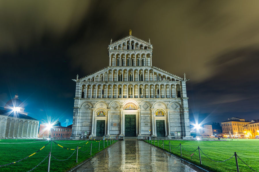Night Illuminated Architecture Outdoors Sky Photography Pisa Italy Pisa Lovely Place Built StructureTuscany Tuscany Italy Church