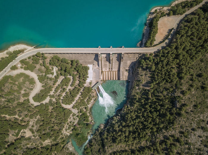 Aerial View Of Hydroelectric Dam