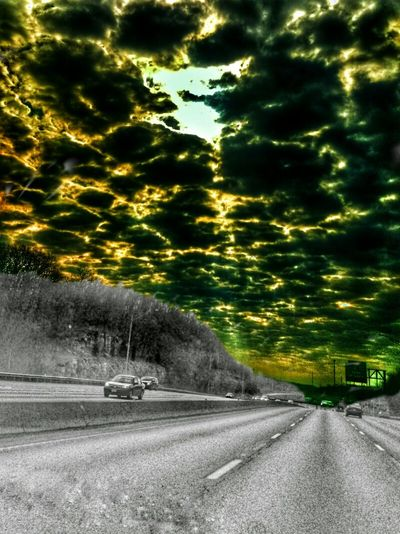 https://youtu.be/CVpnl9V0ctA The Impurist Highway To Hell As Above So Below Black And White Vs Color Skyporn Sunburn Cloudscape Fire In The Sky Go With The Flow Molten Darkness And Light Musical Photos