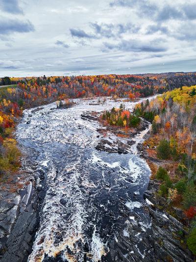 Autumn Autumn Colors Autumn Leaves Changing Colors Drone  Landscape_Collection Autumn🍁🍁🍁 Color Drone Photography Dronephotography Fall Landscape Landscape_photography Overcast River Sky Water
