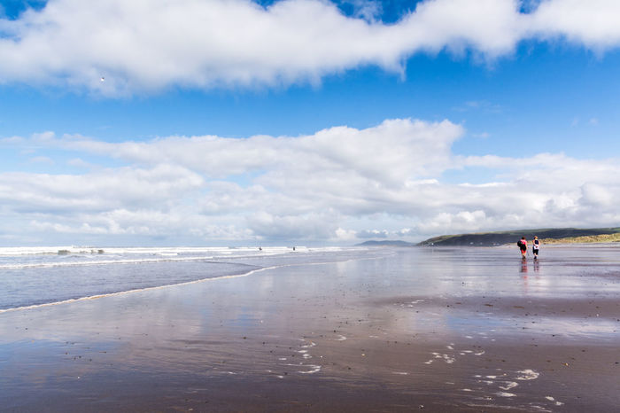 Scenes from Ynyslas Beach near Aberystwyth on August Bank Holiday 2016. Aberystwyth Beach Beach Photography Beautiful Scenery Blue Sky Cardigan Bay Clouds And Sky Couples Ocean Reflections In The Water Scenic Scenics Sea Seascape Seascape Photography Shoreline Tranquil Scene Wales Water Waves, Ocean, Nature Ynyslas