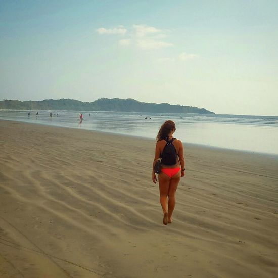 Beach Sea Sand ThatsMe Anastasia Vacations Water Full Length Lifestyles Leisure Activity Scenics Tranquil Scene Incidental People Summer Weekend Activities Sky Tranquility Casual Clothing Person Enjoyment Travel Costa Rica Costa Outdoors Horizon Over Water