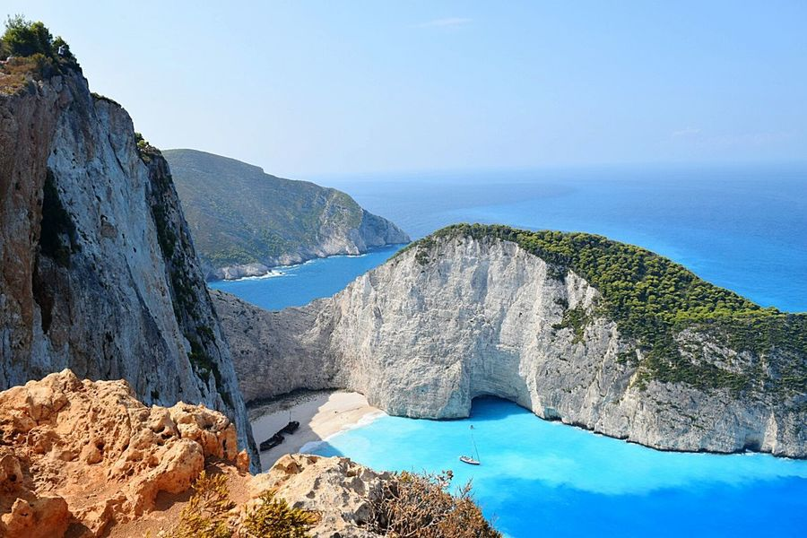 Landscape Water Mountain Beauty In Nature Scenics Outdoors No People Day Bluewater Greece Islands Summeringreece NavagioShipwreck Shipwreck, Zakynthos Zakynthos,Greece The Week On EyeEm Shipwreck VisitGrecce Tranquility Idyllic Rock - Object Nature Zante Greekislands Horizon Over Water Travel