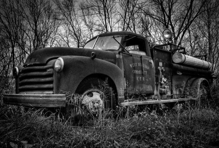 HDR Black & White Fire Truck Hdr Edit