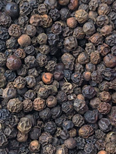Full frame shot of black pepper