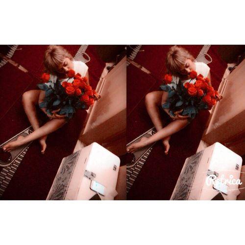 👭 моя подруга подарила шикарные розы