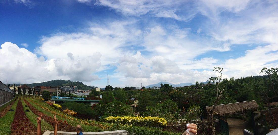 Sky Day Cloud - Sky Tree Outdoors Mountain Nature Real People Iphone5s Photography 2016 Bandung Floatingmarket Raker Desyshakira
