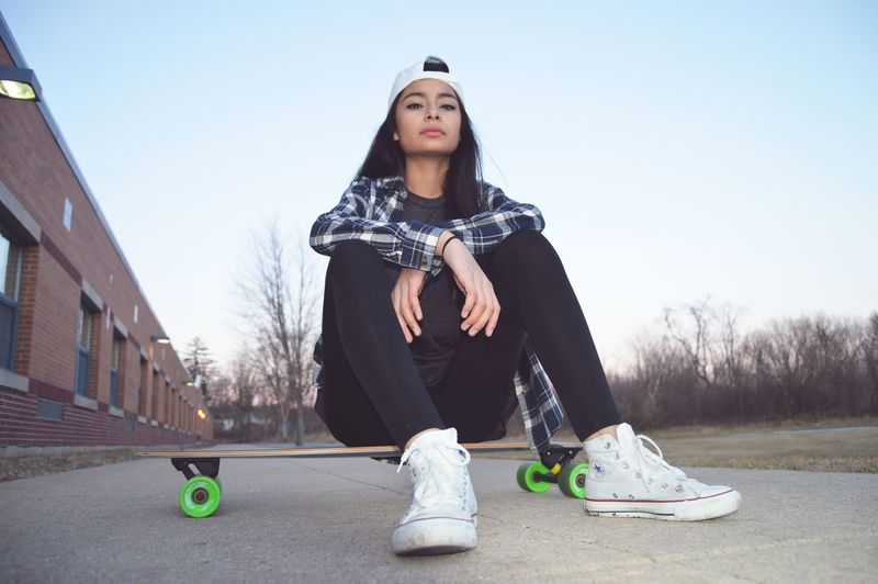 Long Boarding Hat Plaid Chicago Suburbs Converse⭐ Girl Seriousness  Cold Days Cool Showcase: February The Portraitist - 2016 EyeEm Awards The Essence Of Summer
