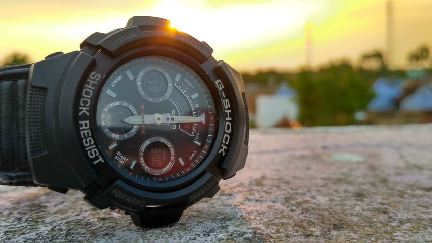 Evening Evening Sky Sunset G-Shock ⌚ Photography Time Black Color No People Outdoors Day