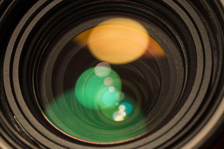 Extreme Close-Up Of Camera Lens