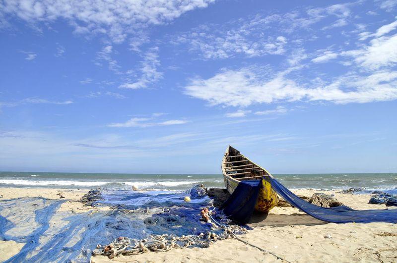 Africa Beach Beach Photography Boat Canou Fish Fish Market Fisher Man Fishing Fishing Boat Fishing Net Fishing Nets Fishing Village Ghana Ocean Ocean View Pirogue Sand Sea Sea And Sky Sea View Seaside Sun
