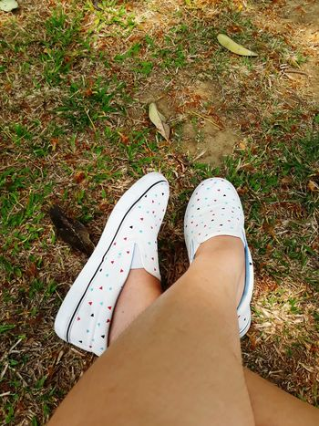 Kicks White Shoes Shoe Grass Nature Outside Outdoors Out Of The Box The Great Outdoors - 2017 EyeEm Awards