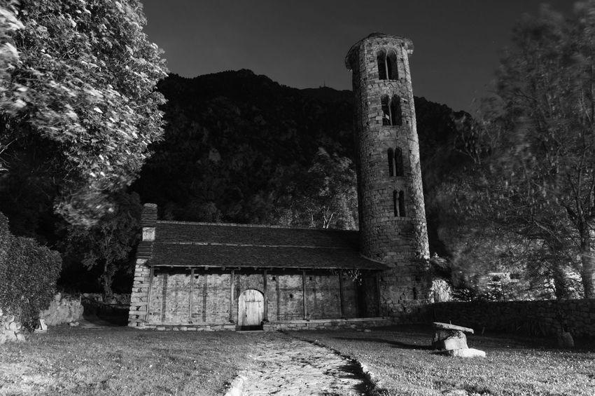 Blackandwhite Church Architecture Andorra