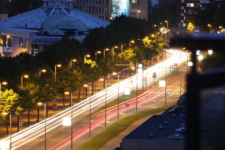 Architecture Built Structure Business Finance And Industry City Lights Long Exposure No People Street Tropicana