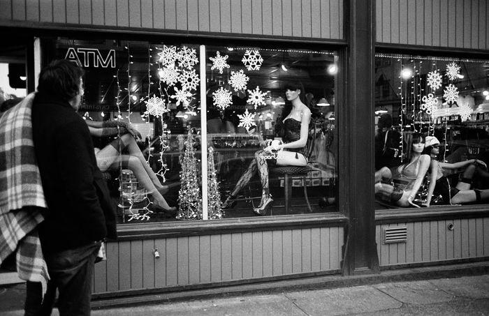 Blackandwhite Photography Daydreaming Film Photography Leica Lifestyles Manbun Manikin Store Front Street The Street Photographer - 2017 EyeEm Awards