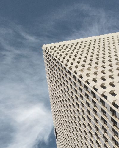 Architecture Low Angle View Built Structure Sky Building Exterior Cloud Office Building Repetition Architectural Feature Tower Day Blue Modern Cloud - Sky Tall - High Outdoors Building Story Tall No People High Section eye of god Watching From Sky