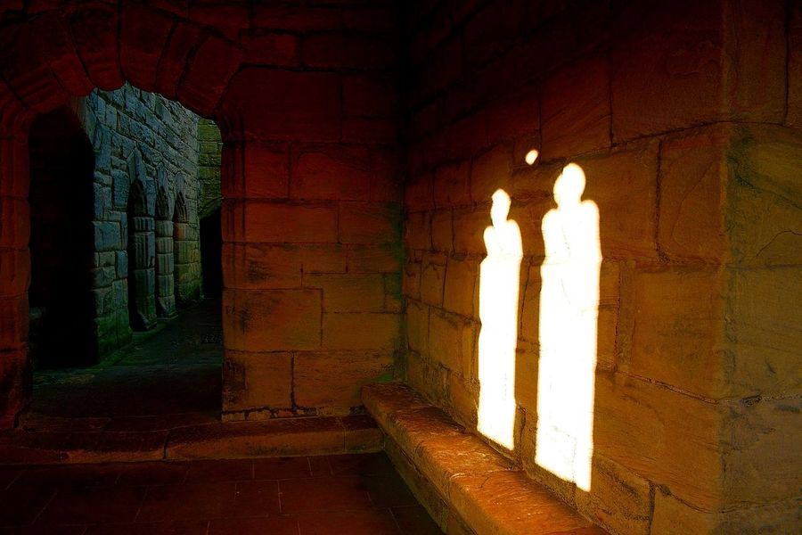 Brick Wall Castle Light In The Dark Shadows & Lights The Week On Eyem Architecture Brick Building Built Structure Castle Ruin Day Illuminated Indoors  Light In The Darkness Light In The Wall No People Shadow