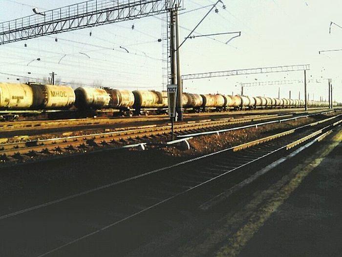 Russia Spring Place Photo Beautifl Sunlight Sun Morning это_Россия_детка это_россия РЖД поезд состав цистерны