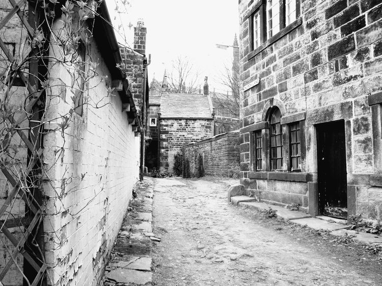Church Houses Old Architecture England Quaint  Village Life Village Simplicity Landscape Happy Valley EyeEm Best Shots Hebden Bridge Light And Shadow Learn & Shoot: Leading Lines Learn & Shoot: Balancing Elements Pathway Black & White Monochrome Black And White Heptonstall Buildings Path Trees Heptonstall Museum Nature Photography