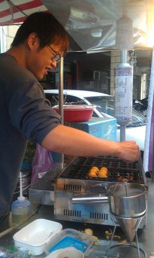 章魚燒 臺灣 台南 Tainan 小吃 Taiwan 點心 傍晚 同學