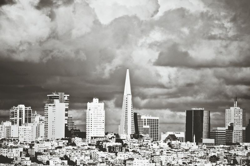 So Dramatic. Check This Out Taking Photos Cityspaces Citybestpics Travelphoto Downtown San Francisco Urbanphotography Clouds Sky Buildings Architecture Sanfrancisco Enjoying Life Bay Area Downtown