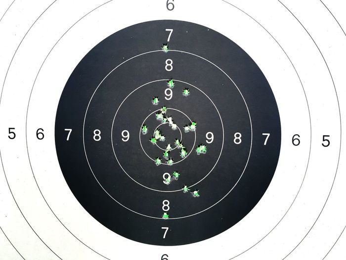 My target Sport Aiming Weapon Gun Circle Bullet Accuracy Rifle No People Competition Close-up Day Outdoors Bullet Holes