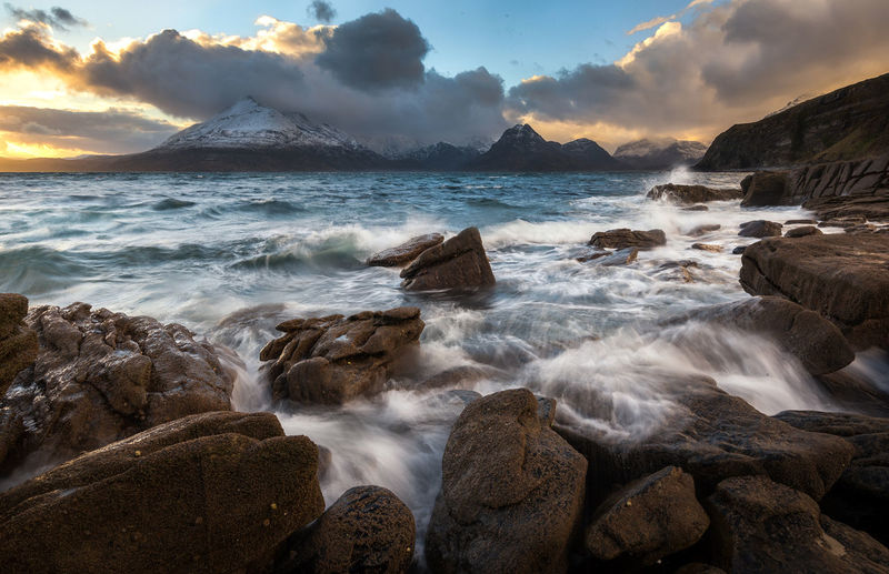 Elgol, Isle of Skye Long Exposure Landscape Motion Blurred Motion Snowcapped Mountain Mountain Range Scotland Scotland 💕 EyeEm Masterclass The Great Outdoors - 2017 EyeEm Awards Landscape_Collection EyeEm Best Edits EyeEmNewHere EyeEm Best Shots Dramatic Sky Outdoors