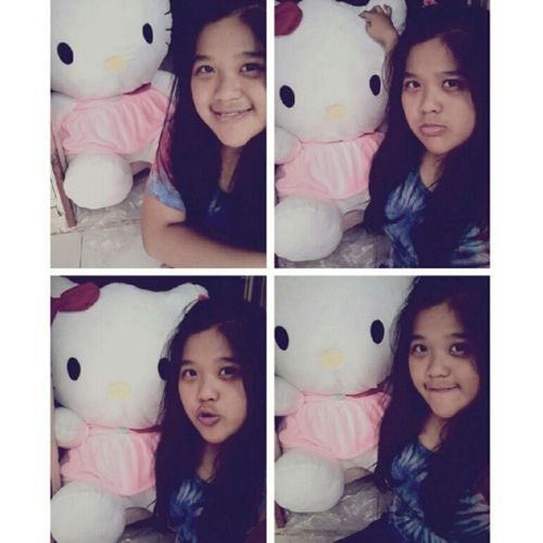 (2) The most big HK from my brother <3 Me Selca Takeaselca With Pink HK doll mine cute loveit nice random tshirt 4pages instapict instacool tagsforlove likeme flwme