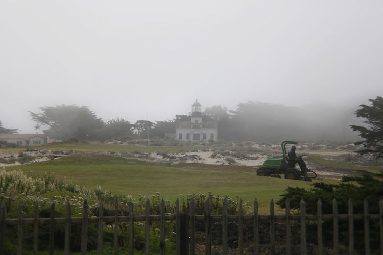 Coastal Fog Golf Course Lawn Monterey Outdoors Tranquil Scene Tranquility