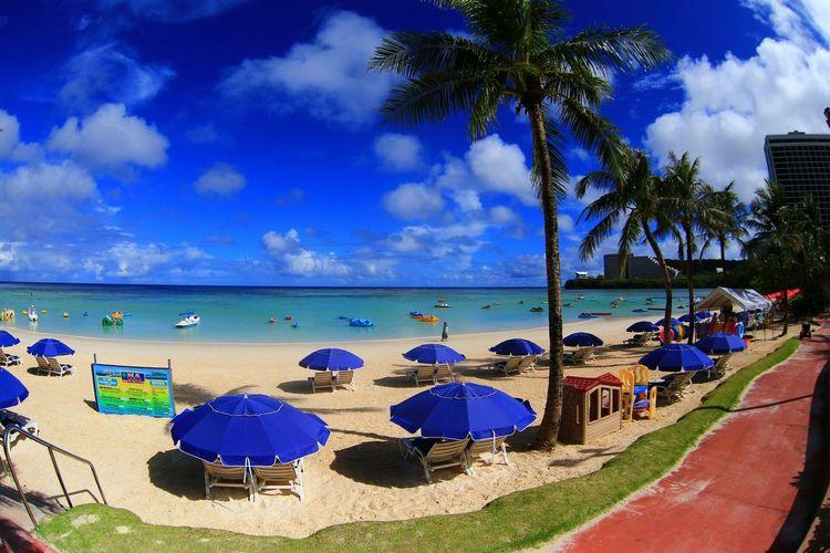 關島碧海藍天沙灘