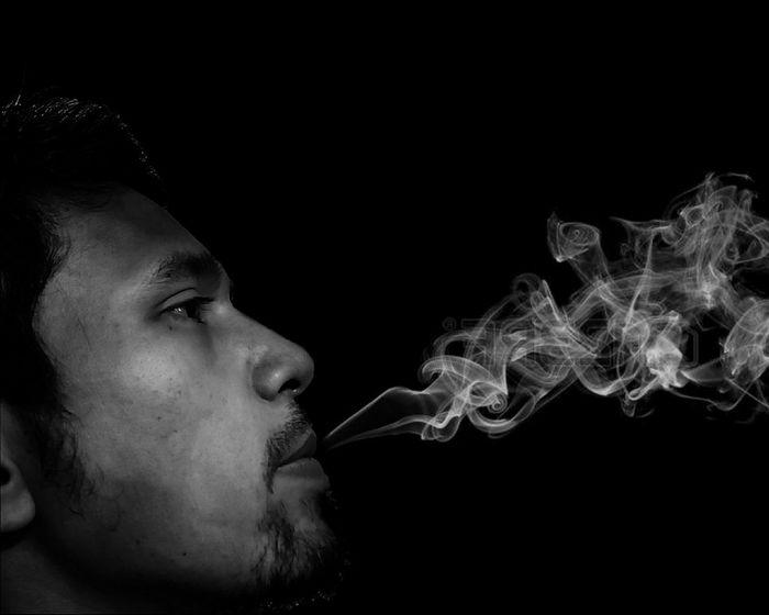 Smoke Blackandwhite Black And White Black & White Smoke Smoking Black Background Studio Shot Headshot Human Face Abstract Close-up Human Lips