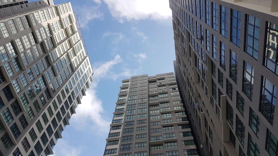 High, the higher & the highest City Modern Skyscraper Cityscape Window Sky Architecture Building Exterior Block Shape Urban Skyline Tall - High
