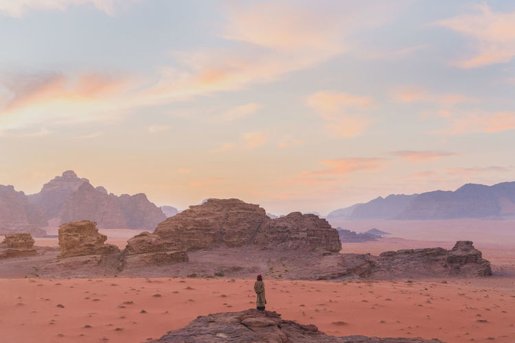 A lone bedouin