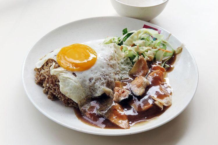 Garlic Fried Rice Salmon The Foodie - 2015 EyeEm Awards Egg Sunny Side Up Fried Egg Friedrice Sgfood Singapore Hawker Food Food Porn Awards