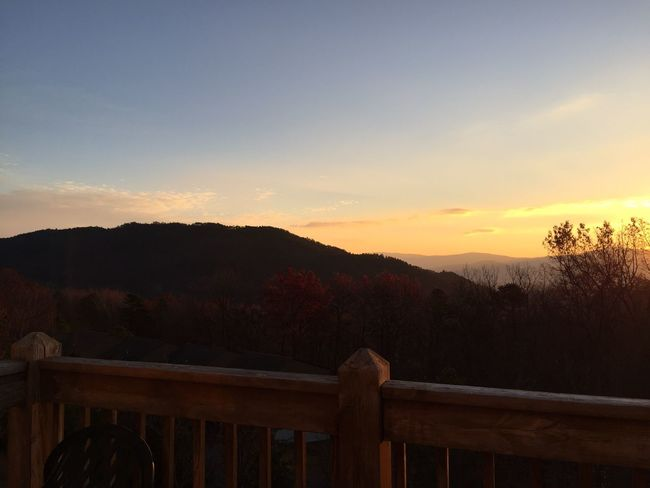 Mountain Balcony View Travel Destinations Sunrise Warmth Of The Sun Warm Lighting Golden Tranquility Nature Tranquil Scene Beauty In Nature Scenics Sky Outdoors No People Tree Day Massanutten, VA