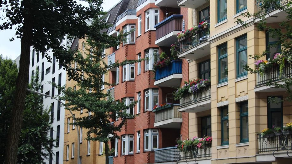 Building Exterior Architecture Built Structure Window Low Angle View Tree Outdoors City No People Day Future Architect at Hamburg In Germany