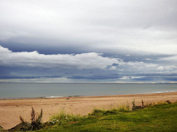 Northumberland Berwick Beauty In Nature Cloud - Sky Day Field Grass Horizon Over Water Landscape Nature No People Outdoors Scenics Sea Sky Tranquil Scene Tranquility Water