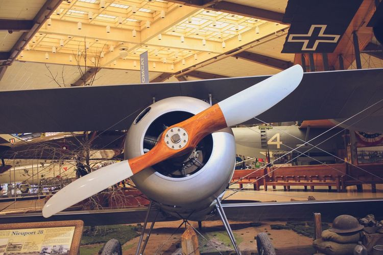 Vintage propellers Museum Vintage Propellers Military Airplane Plane Indoors  Day Built Structure No People