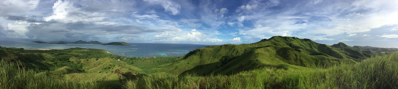 Morning view from a hill on Nacula Island, Fiji. EyeEmNewHere Fiji Green Hills Hillside Light And Shadow Nacula Island Nature Ocean Outdoor Photography Outdoors Panorama Sky The Great Outdoors - 2017 EyeEm Awards