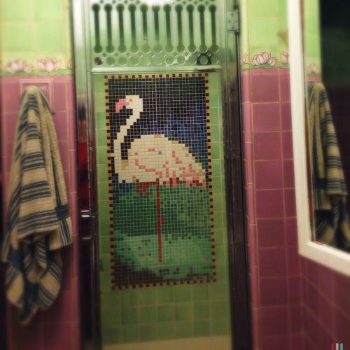 Purehipstamatic Flamingo Bathroom Tiles