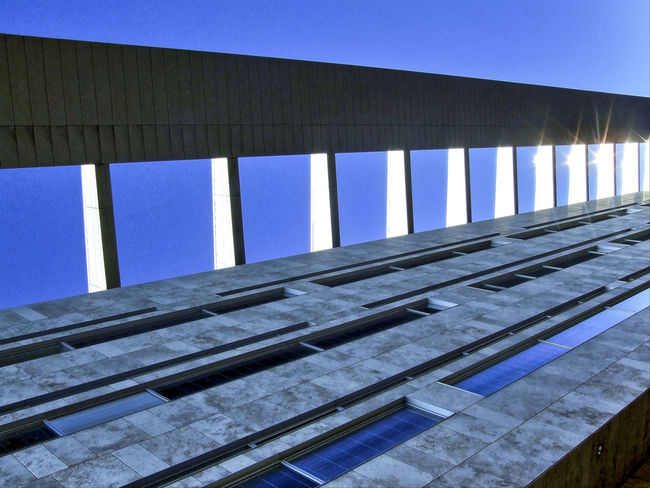 modern structure Architecture Blue Building Exterior Built Structure Clear Sky Day Low Angle View Modern Architecture Modern Structure No People Outdoors Pattern Sky