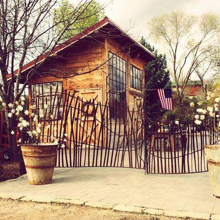 No Pepole Wood - Material Light And Shadow Special Place Flag Small House Small Buildings Plants Fence Fence Art