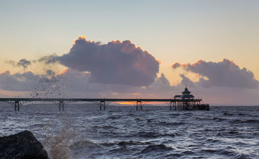 Clevedon Pier Over Sea Against Sky