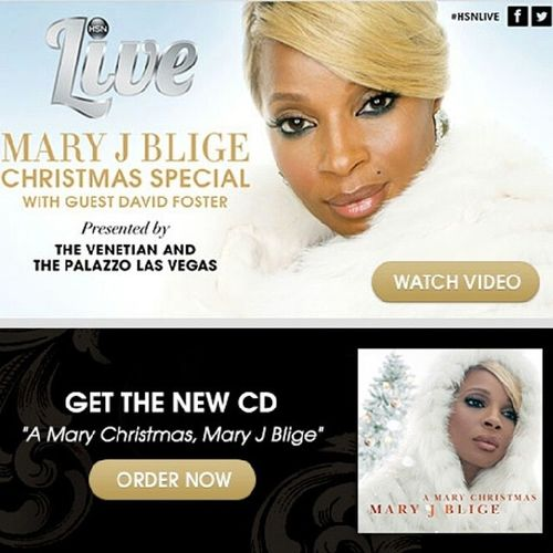 I just might order this! AND I can order through the TV :-) MaryJBlige MaryJBligeAMaryChristmas HSN HSNLive CurrentlyWatching