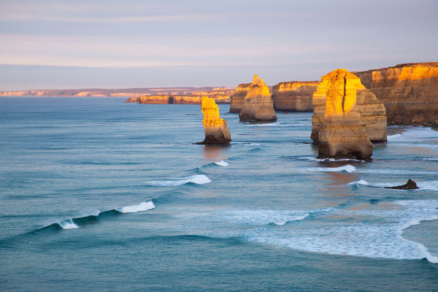 12 Apostles Beach Cliff Coastline Distant Horizon Over Water Outdoors Physical Geography Rock Rock - Object Rock Formation Scenics Sea Shore Surf Traveling Vacation Vacations Water Wave Landscapes With WhiteWall The Great Outdoors - 2016 EyeEm Awards