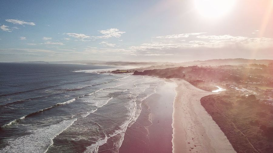 drone shot sydney australia dji mavic pro helicopter beach night sunset waves coast wallpaper Sky Beauty In Nature Water Sea Scenics - Nature Land Tranquil Scene Cloud - Sky Tranquility Beach Nature Sunlight Idyllic Non-urban Scene Day No People Sport Aquatic Sport Sun Horizon Over Water Outdoors